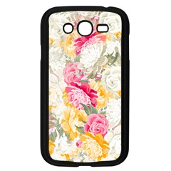 Colorful Floral Collage Samsung Galaxy Grand Duos I9082 Case (black) by Dushan