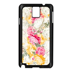Colorful Floral Collage Samsung Galaxy Note 3 N9005 Case (black) by Dushan