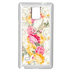 Colorful Floral Collage Samsung Galaxy Note 4 Case (white)