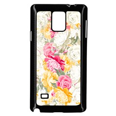 Colorful Floral Collage Samsung Galaxy Note 4 Case (black)