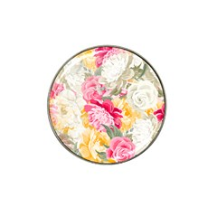 Colorful Floral Collage Hat Clip Ball Marker (10 Pack) by Dushan