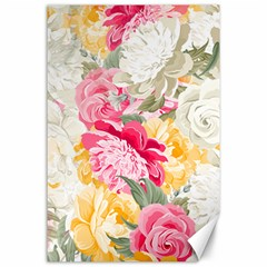 Colorful Floral Collage Canvas 24  X 36  by Dushan