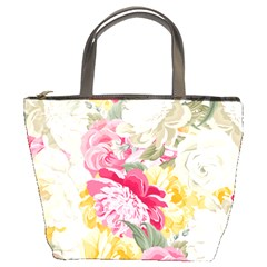 Colorful Floral Collage Bucket Bags by Dushan