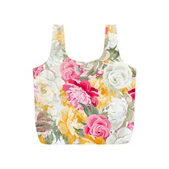 Colorful Floral Collage Full Print Recycle Bags (s)  by Dushan