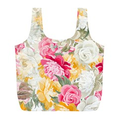 Colorful Floral Collage Full Print Recycle Bags (l)  by Dushan