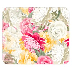 Colorful Floral Collage Double Sided Flano Blanket (small)