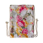Colorful Floral Collage Drawstring Bag (Small) Back