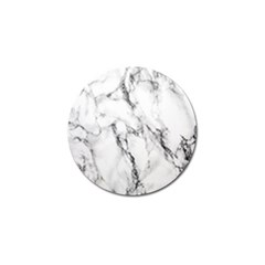 White Marble Stone Print Golf Ball Marker (4 Pack) by Dushan