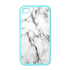 White Marble Stone Print Apple Iphone 4 Case (color) by Dushan