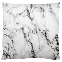 White Marble Stone Print Large Cushion Cases (one Side)  by Dushan