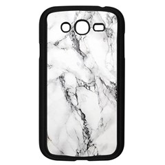 White Marble Stone Print Samsung Galaxy Grand Duos I9082 Case (black) by Dushan