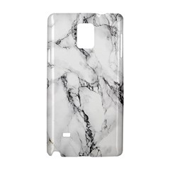 White Marble Stone Print Samsung Galaxy Note 4 Hardshell Case