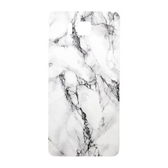 White Marble Stone Print Samsung Galaxy Alpha Hardshell Back Case by Dushan
