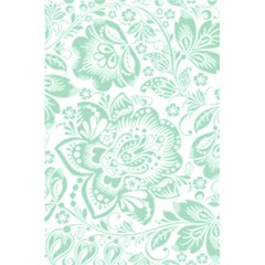 Mint Green And White Baroque Floral Pattern 5 5  X 8 5  Notebooks by Dushan