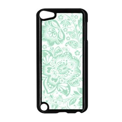 Mint Green And White Baroque Floral Pattern Apple Ipod Touch 5 Case (black)