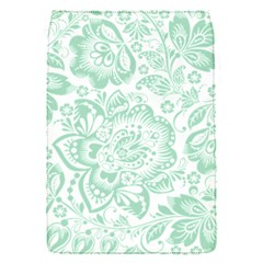 Mint Green And White Baroque Floral Pattern Flap Covers (s)  by Dushan