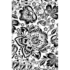 Black Floral Damasks Pattern Baroque Style 5 5  X 8 5  Notebooks by Dushan