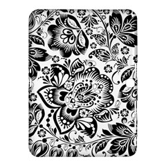 Black Floral Damasks Pattern Baroque Style Samsung Galaxy Tab 4 (10 1 ) Hardshell Case