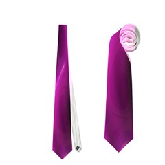 Shiny Silk Pink Neckties (one Side)