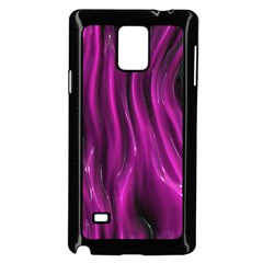 Shiny Silk Pink Samsung Galaxy Note 4 Case (black) by MoreColorsinLife