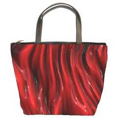 Shiny Silk Red Bucket Bags by MoreColorsinLife