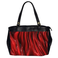 Shiny Silk Red Office Handbags (2 Sides)  by MoreColorsinLife