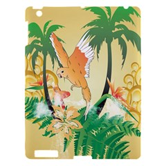Funny Budgies With Palm And Flower Apple Ipad 3/4 Hardshell Case by FantasyWorld7