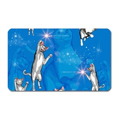 Funny, Cute Playing Cats With Stras Magnet (rectangular) by FantasyWorld7
