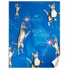 Funny, Cute Playing Cats With Stras Canvas 18  X 24