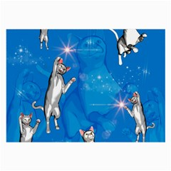 Funny, Cute Playing Cats With Stras Large Glasses Cloth (2 Side) by FantasyWorld7