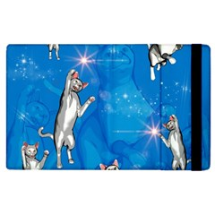 Funny, Cute Playing Cats With Stras Apple Ipad 3/4 Flip Case by FantasyWorld7