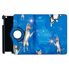 Funny, Cute Playing Cats With Stras Apple Ipad 2 Flip 360 Case by FantasyWorld7