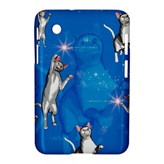 Funny, Cute Playing Cats With Stras Samsung Galaxy Tab 2 (7 ) P3100 Hardshell Case  by FantasyWorld7