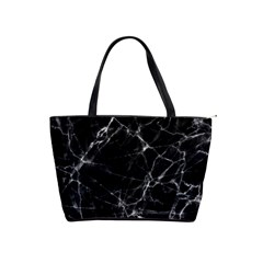 Black Marble Stone Pattern Shoulder Handbags
