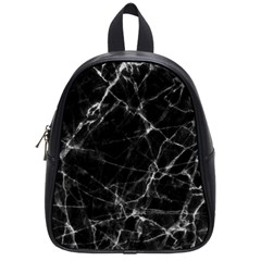 Black Marble Stone Pattern School Bags (small)