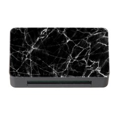 Black Marble Stone Pattern Memory Card Reader With Cf by Dushan