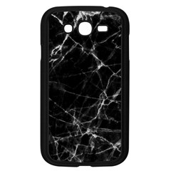 Black Marble Stone Pattern Samsung Galaxy Grand Duos I9082 Case (black) by Dushan