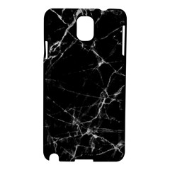 Black Marble Stone Pattern Samsung Galaxy Note 3 N9005 Hardshell Case by Dushan