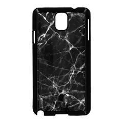 Black Marble Stone Pattern Samsung Galaxy Note 3 Neo Hardshell Case (black)