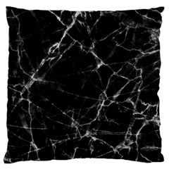 Black Marble Stone Pattern Large Flano Cushion Cases (one Side)