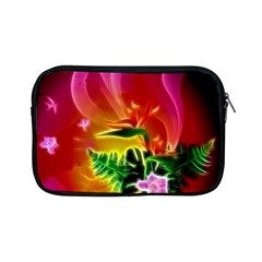 Awesome F?owers With Glowing Lines Apple Ipad Mini Zipper Cases by FantasyWorld7