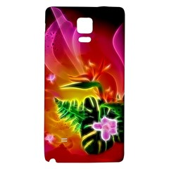 Awesome F?owers With Glowing Lines Galaxy Note 4 Back Case by FantasyWorld7