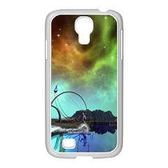 Fantasy Landscape With Lamp Boat And Awesome Sky Samsung Galaxy S4 I9500/ I9505 Case (white) by FantasyWorld7