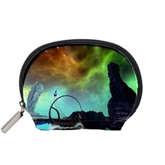 Fantasy Landscape With Lamp Boat And Awesome Sky Accessory Pouches (small)  by FantasyWorld7