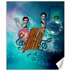Music, Pan Flute With Fairy Canvas 20  X 24