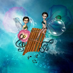 Music, Pan Flute With Fairy Magic Photo Cubes by FantasyWorld7