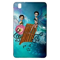 Music, Pan Flute With Fairy Samsung Galaxy Tab Pro 8 4 Hardshell Case by FantasyWorld7