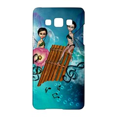Music, Pan Flute With Fairy Samsung Galaxy A5 Hardshell Case  by FantasyWorld7
