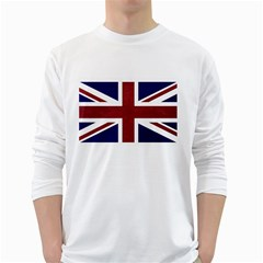 Brit8 White Long Sleeve T Shirts by ItsBritish
