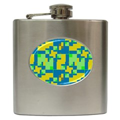 Shapes In Shapes Hip Flask (6 Oz) by LalyLauraFLM